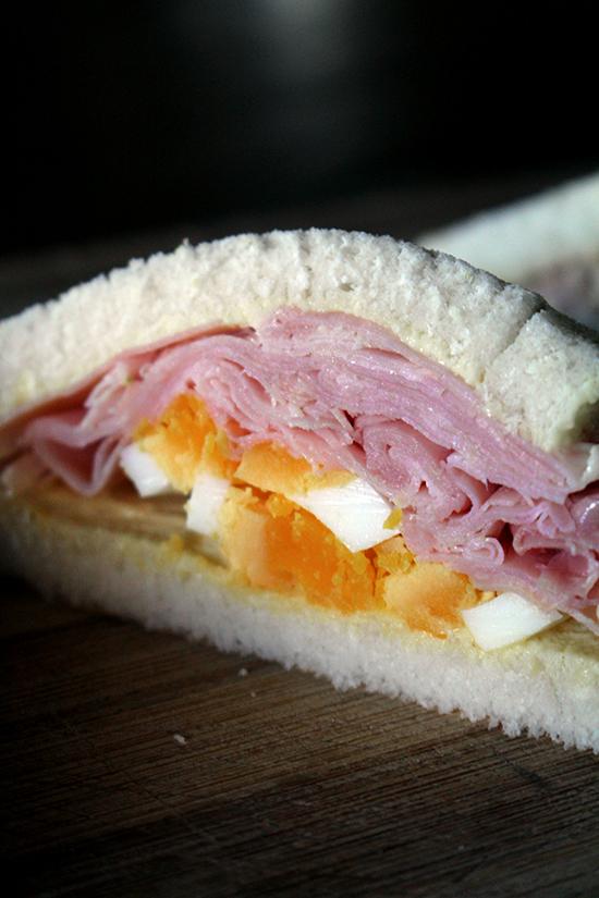A ham and egg tramezzino.