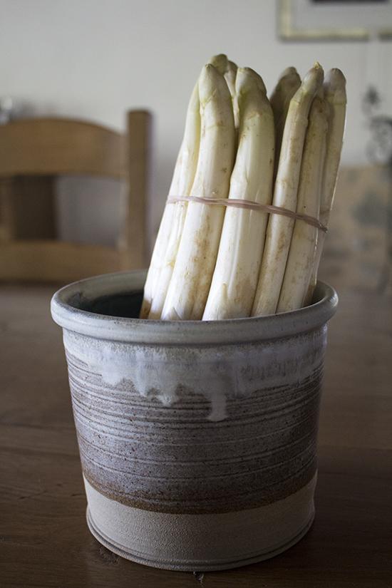 White asparagus from the Veneto