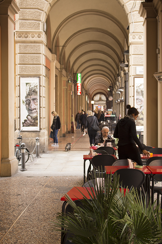 A typical Bolognese colonnade.