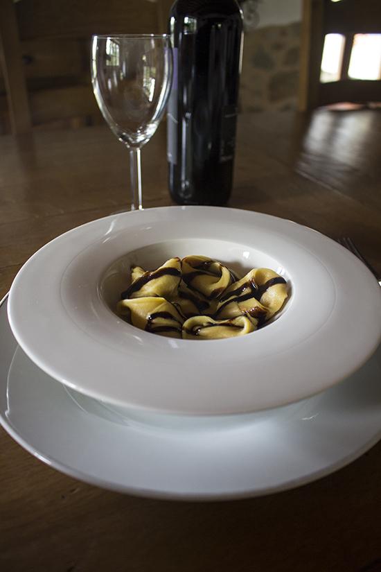 Tortelli di zucca con aceto balsamico di Modena